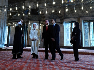 How rare is a presidential trip to a US mosque?