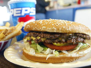 The top 20 burgers with the fewest calories