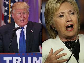 Clinton, Trump square off in separate speeches