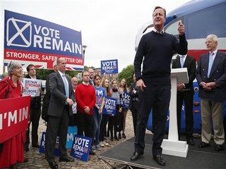 British politicians make final push in EU vote