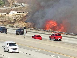 Los Angeles-area wildfire prompts evacuations