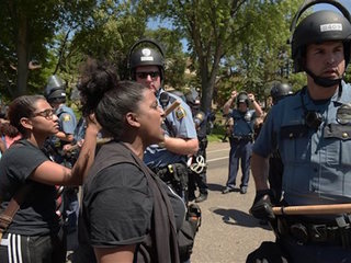 Dozens arrested outside Minn. governor's mansion