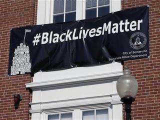Mass. mayor: Black Lives Matter banner can stay