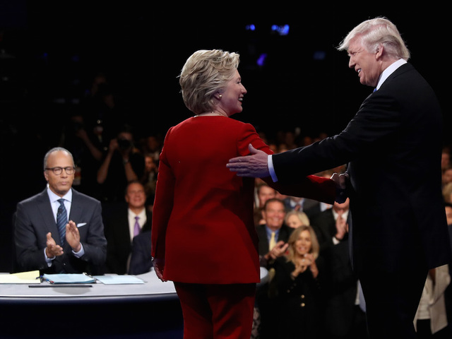 Clinton and Trump went head-to-head Monday