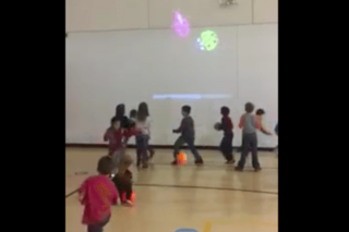 Watch clever PE teacher gets kids to exercise