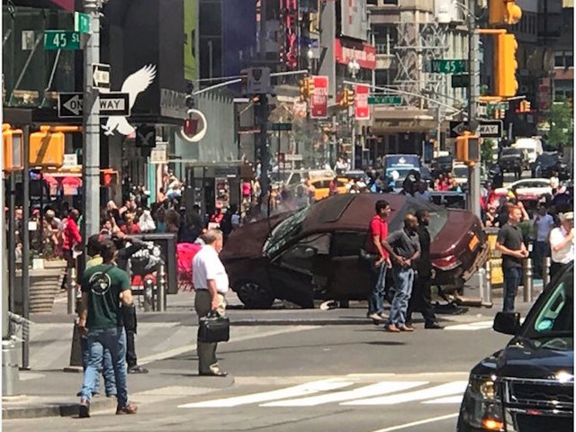Driver Crashes into Pedestrians in Times Square