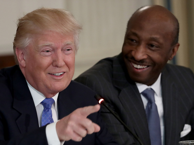 Merck CEO quits Trump council over Charlottesville