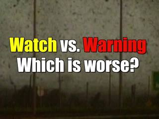 What's the difference between a watch & warning?