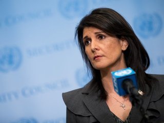 Haley: Draft of Middle East plan nearly done