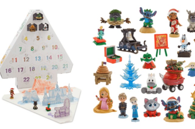 this advent calendar is filled with disney figurines